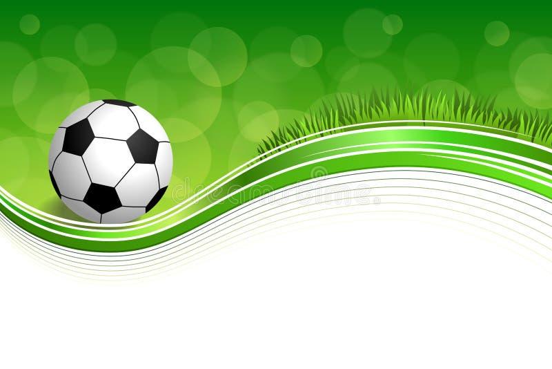 Иллюстрация рамки футбольного мяча футбола зеленой травы предпосылки абстрактная иллюстрация штока