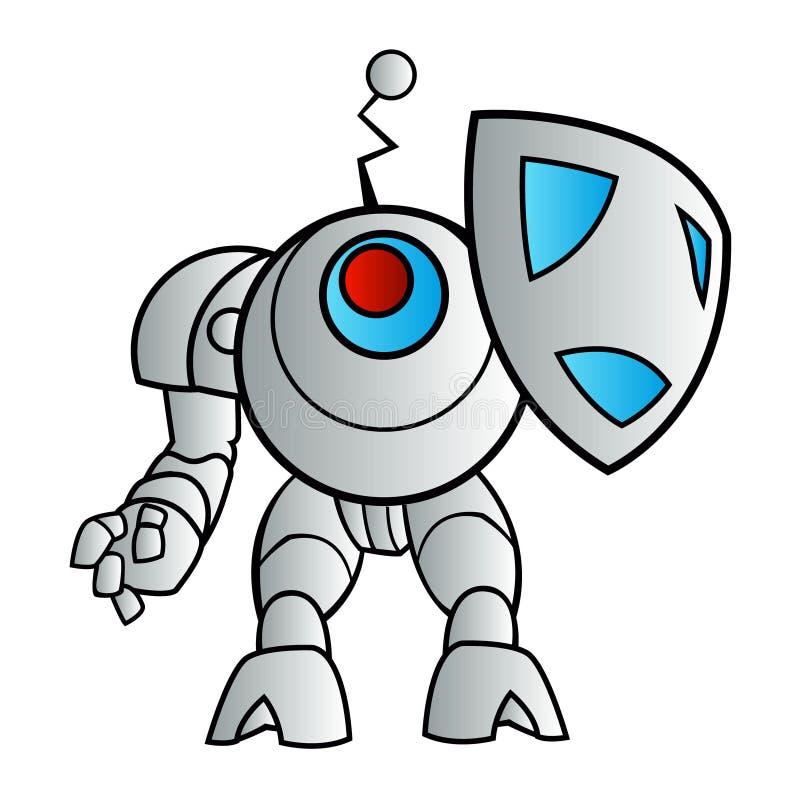 Иллюстрация робота с экраном бесплатная иллюстрация