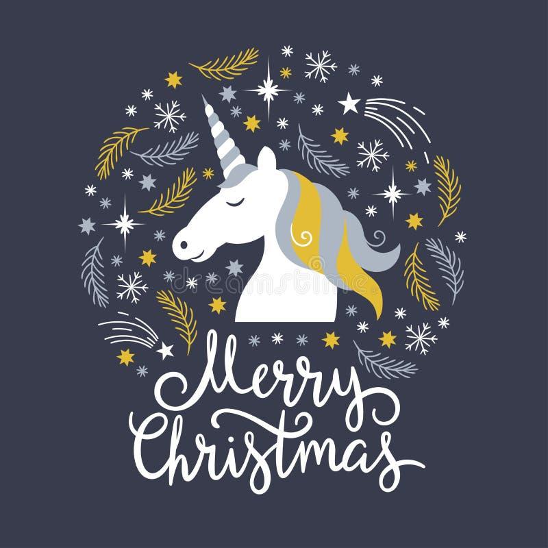 Иллюстрация рождества, рождественская открытка иллюстрация штока