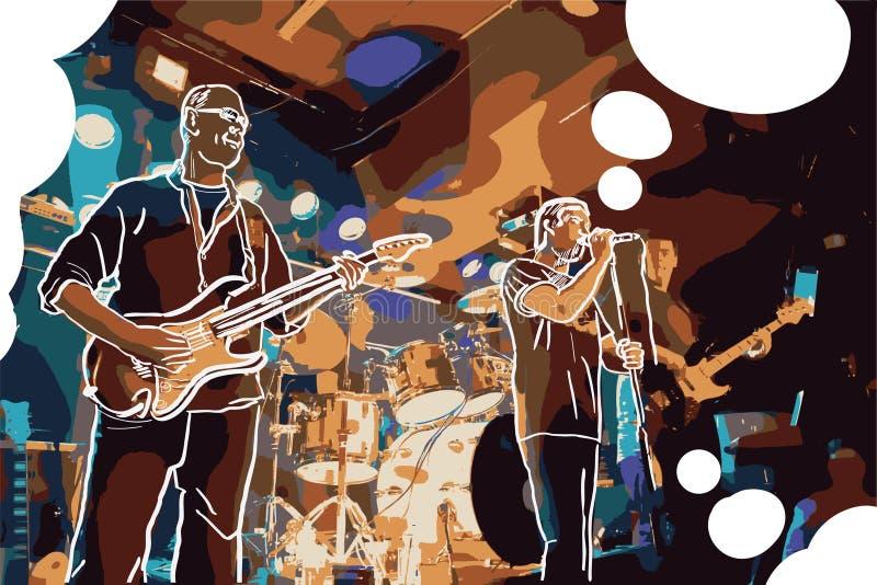 Иллюстрация рок-группы бесплатная иллюстрация