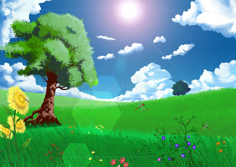 Иллюстрация: Сезоны: Лето иллюстрация вектора