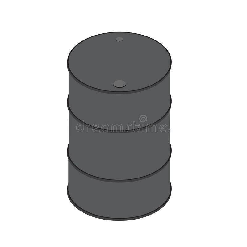 Иллюстрация серого вектора значка бочонка равновеликая стоковая фотография