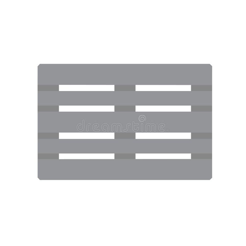 Иллюстрация серого вектора значка palett евро плоская стоковые изображения rf