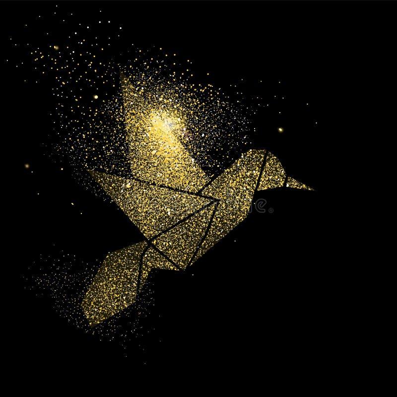Иллюстрация символа концепции искусства яркого блеска золота птицы бесплатная иллюстрация