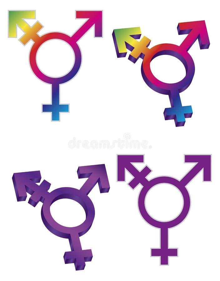 Иллюстрация символов трансгендерного иллюстрация вектора