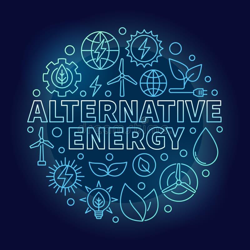 Иллюстрация сини альтернативной энергии иллюстрация вектора