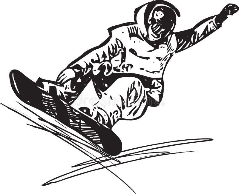 Иллюстрация сноубординга иллюстрация штока