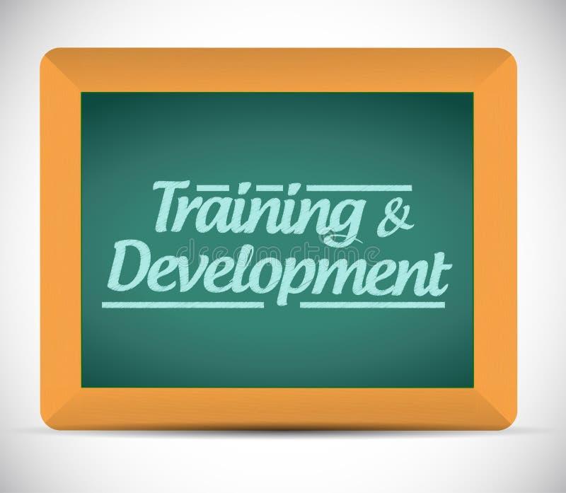 Иллюстрация сообщения тренировки и развития иллюстрация вектора