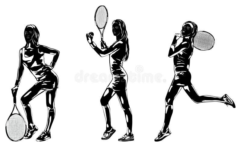иллюстрация способа визитной карточки предпосылки silhouettes женщины вектора типа иллюстрация штока