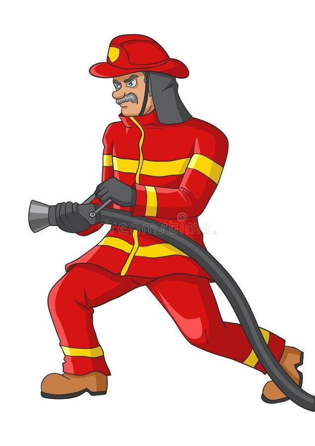 Иллюстрация старшего пожарного бесплатная иллюстрация