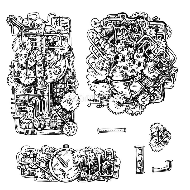 Иллюстрация стиля Steampunk иллюстрация штока