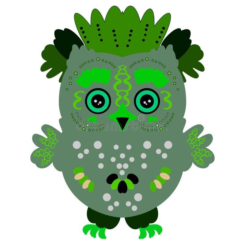 Иллюстрация сыча птица яркая бесплатная иллюстрация