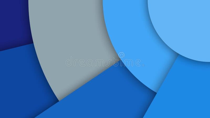 Иллюстрация с абстрактной предпосылкой с различными поверхностями уровней и кругами, материальным дизайном иллюстрация штока