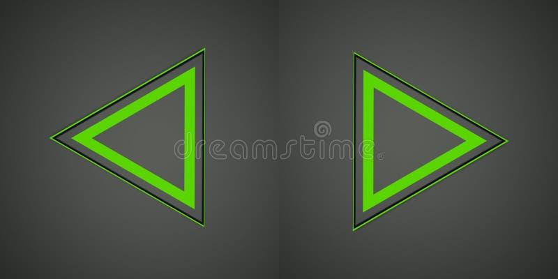 Иллюстрация с зеленым знаком стрелок Стоковое фото RF