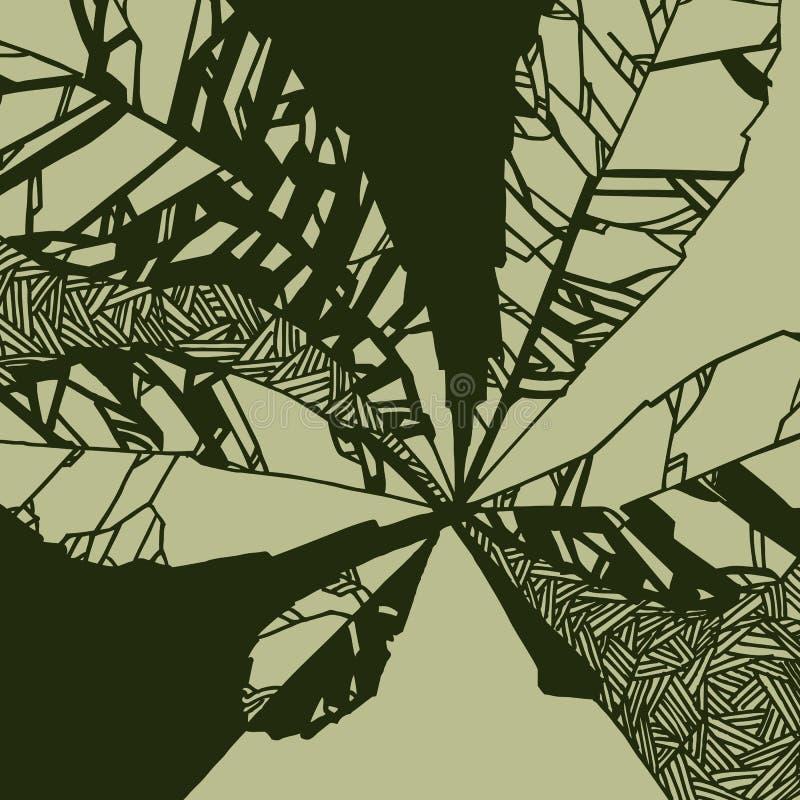 Иллюстрация с лист каштана стоковая фотография rf