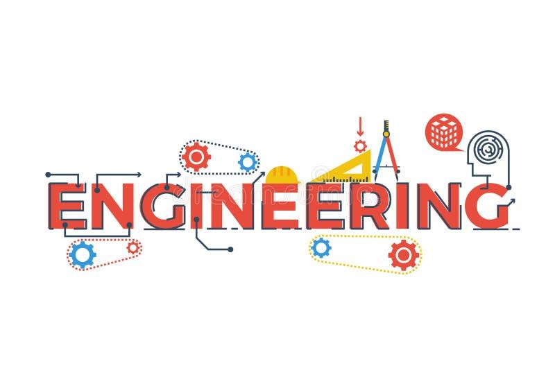 Иллюстрация слова инженерства бесплатная иллюстрация