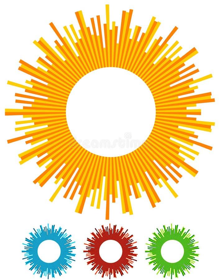 Иллюстрация с лучами, лучами, radial - излучать выравнивается Abstrac иллюстрация вектора