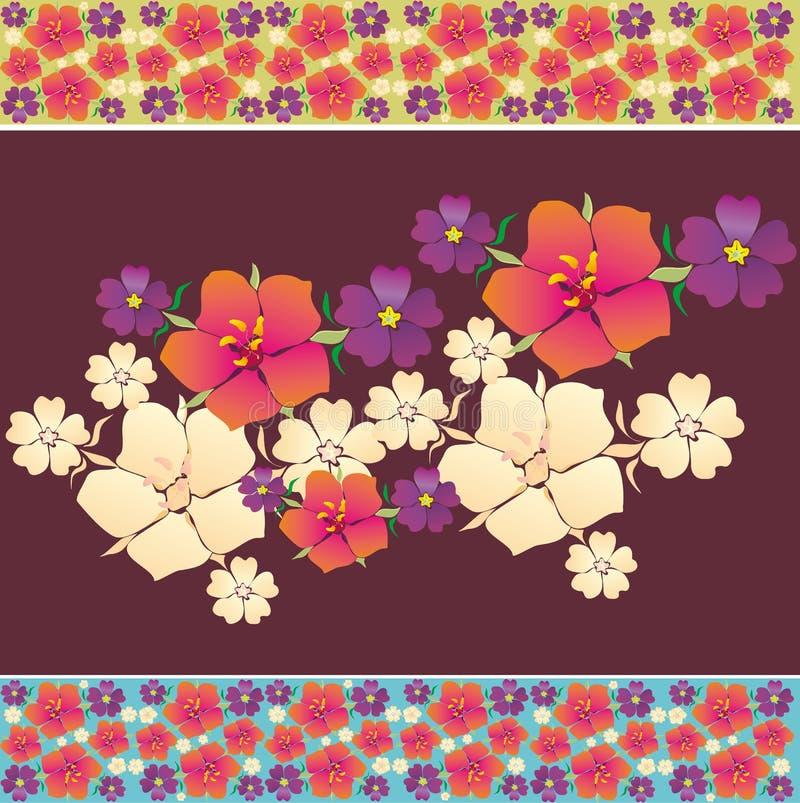 Иллюстрация с цветками стоковое изображение rf