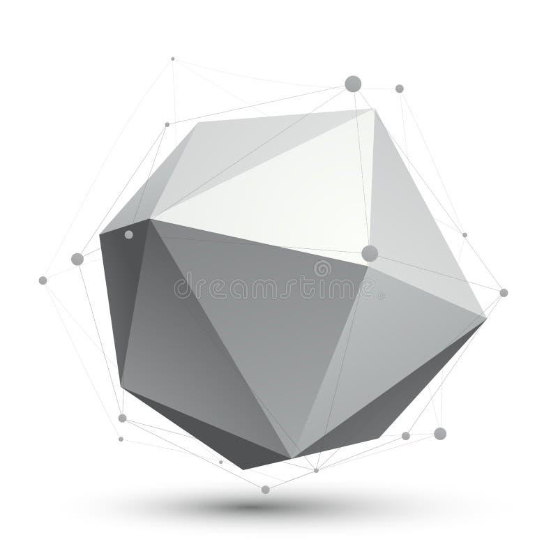 иллюстрация техника конспекта вектора 3D, unus перспективы геометрическое иллюстрация вектора