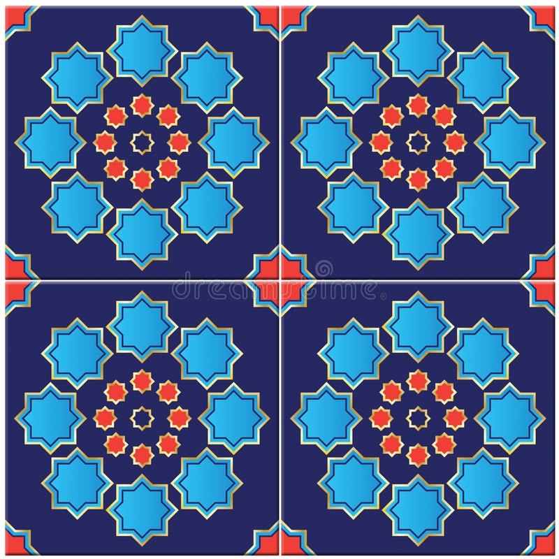 Иллюстрация турецкой плитки иллюстрация вектора