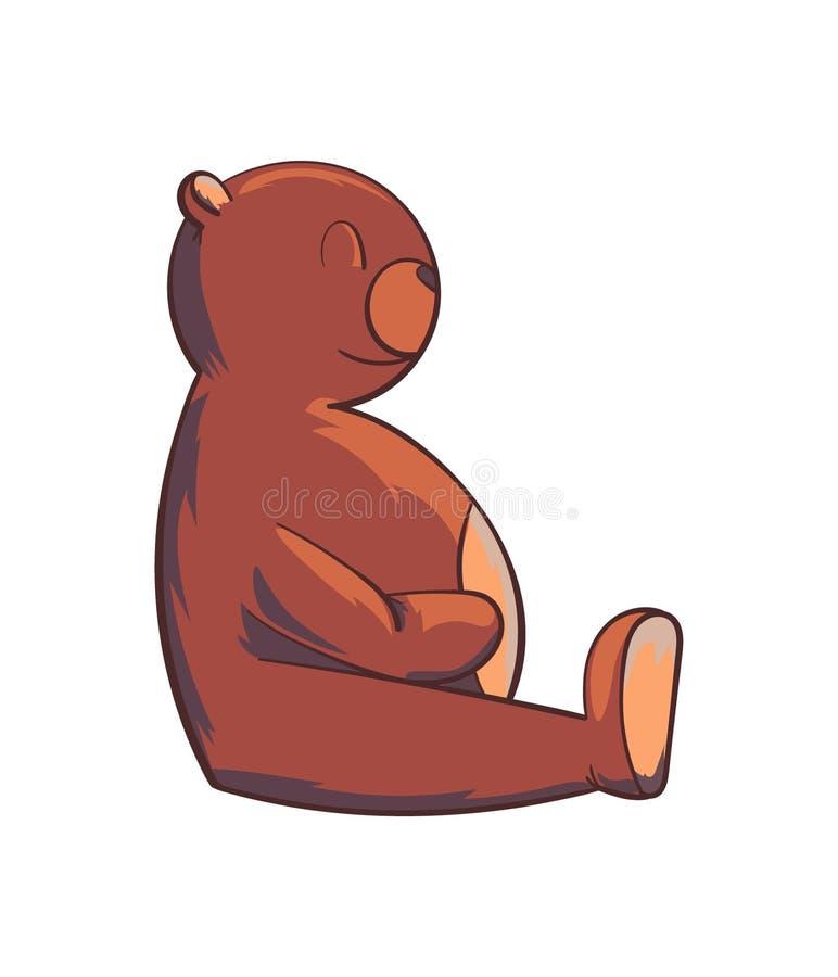Иллюстрация усмехаясь медведя игрушки стоковое фото