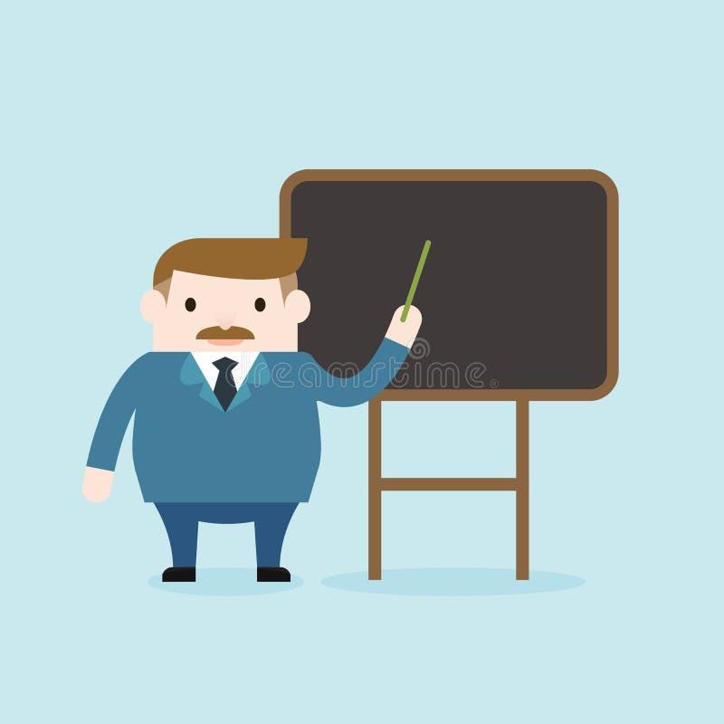 Иллюстрация учителя учит в классе стоковая фотография rf