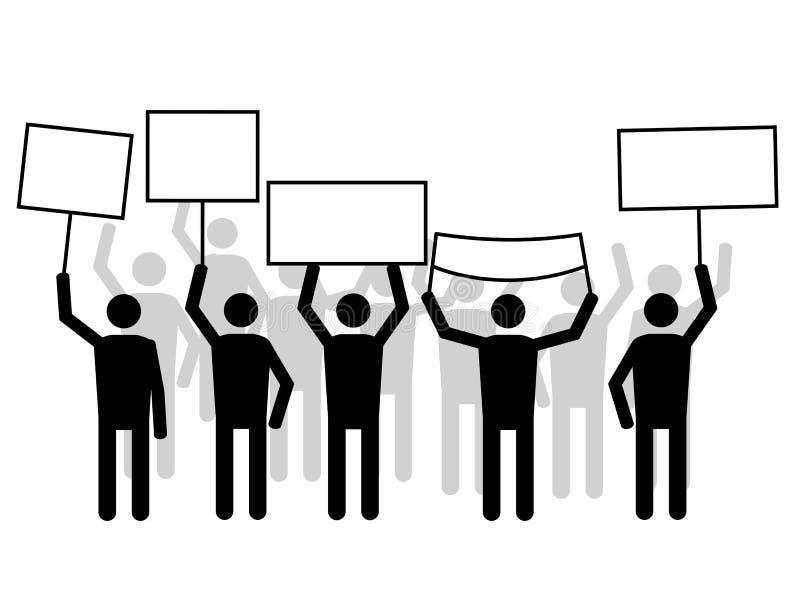 Забастовка иллюстрация вектора