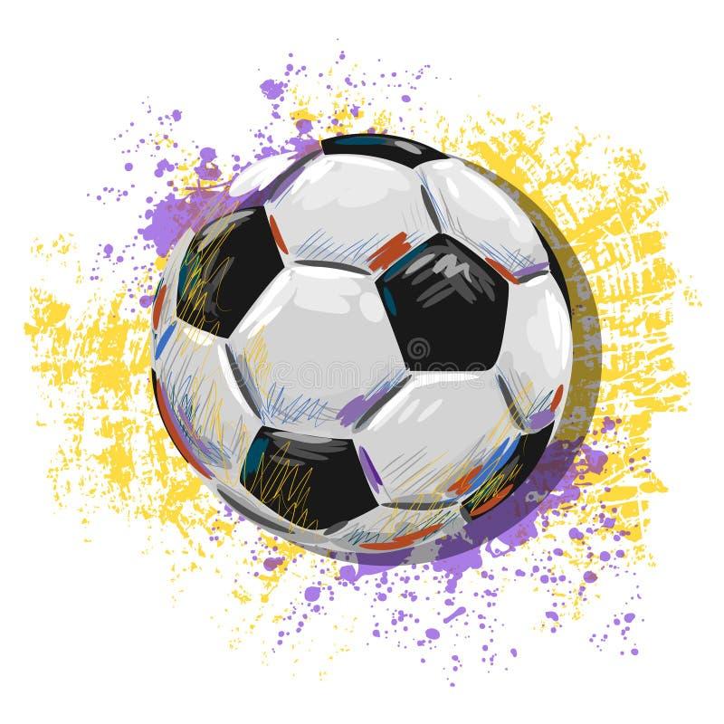 Иллюстрация футбольного мяча стоковые фотографии rf