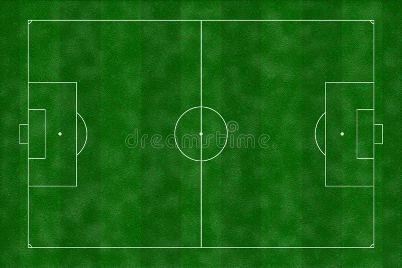 Иллюстрация футбольного поля Стоковое Изображение