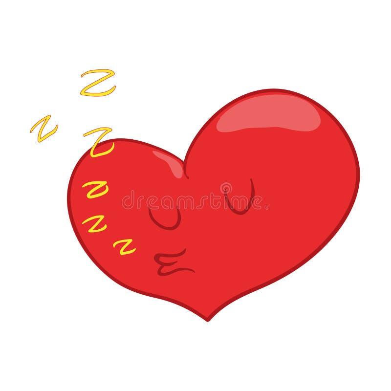 Иллюстрация характера сердца иллюстрация вектора