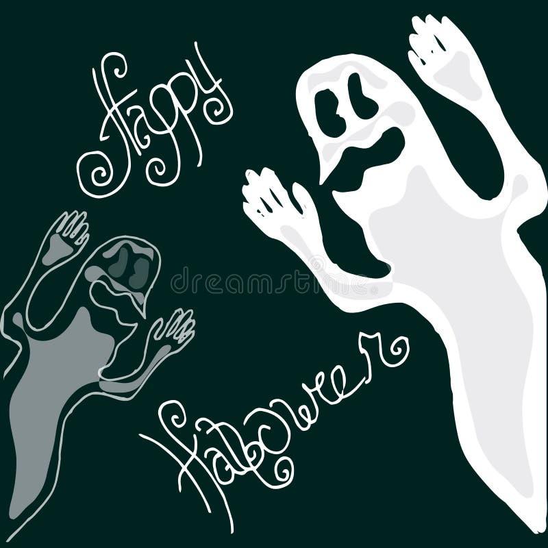Иллюстрация хеллоуина Диаграмма призраки счастливые праздники бесплатная иллюстрация
