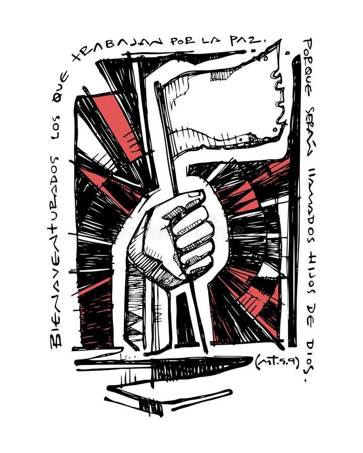 Иллюстрация христианского библейского beatitude бесплатная иллюстрация