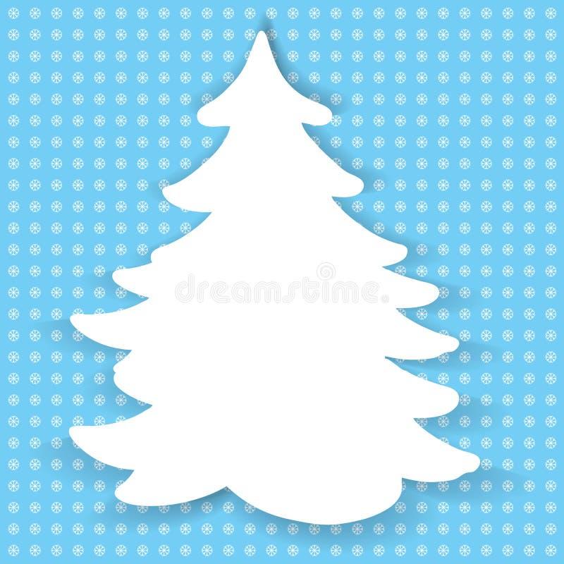 Иллюстрация цвета бумажной рождественской елки бесплатная иллюстрация
