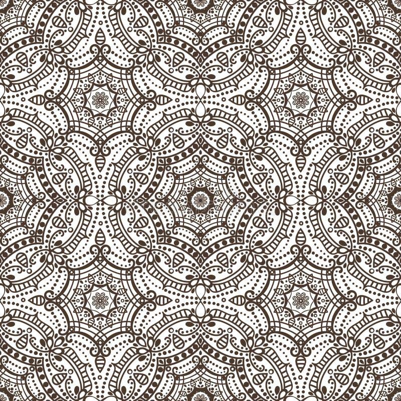 иллюстрация цветков зеленая выходит картине мандала безшовные тоны Орнамент Востока этнический brougham иллюстрация штока