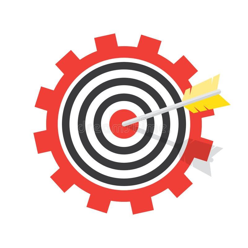 Иллюстрация цели с стрелкой иллюстрация вектора