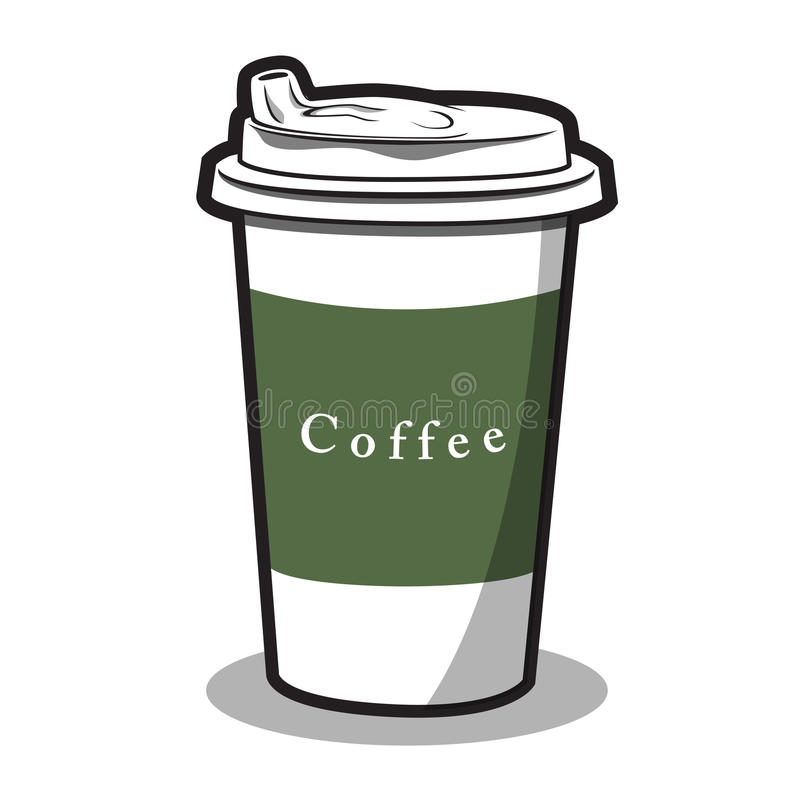 Иллюстрация чашки и горячего кофе стоковое фото rf