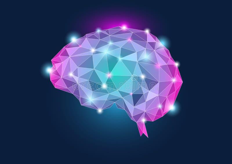 иллюстрация человека принципиальной схемы мозга стоковые фото
