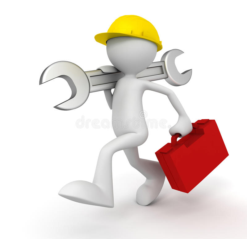 Иллюстрация человека 3d ремонтных услуг бесплатная иллюстрация