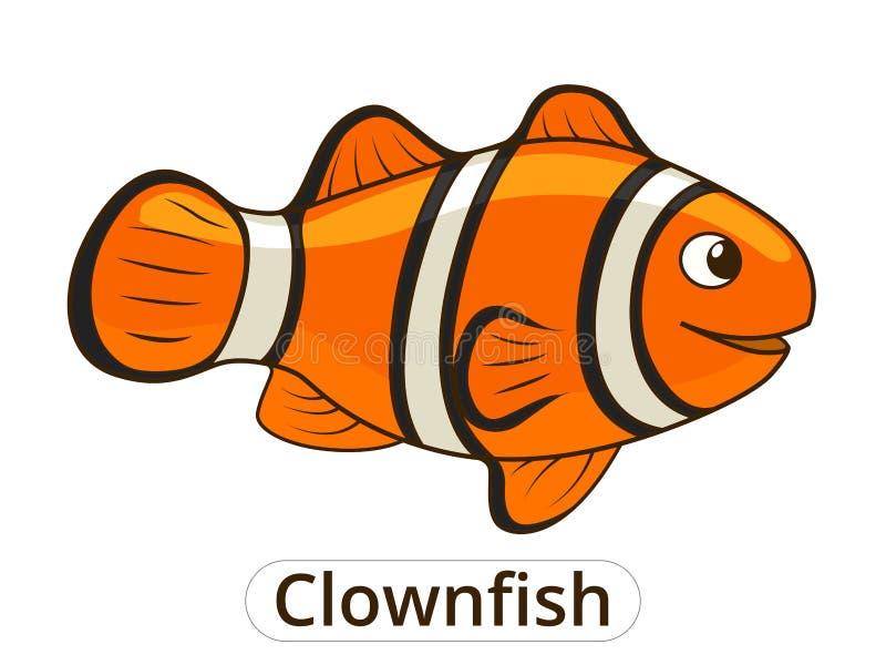 Иллюстрация шаржа рыб моря Clownfish бесплатная иллюстрация