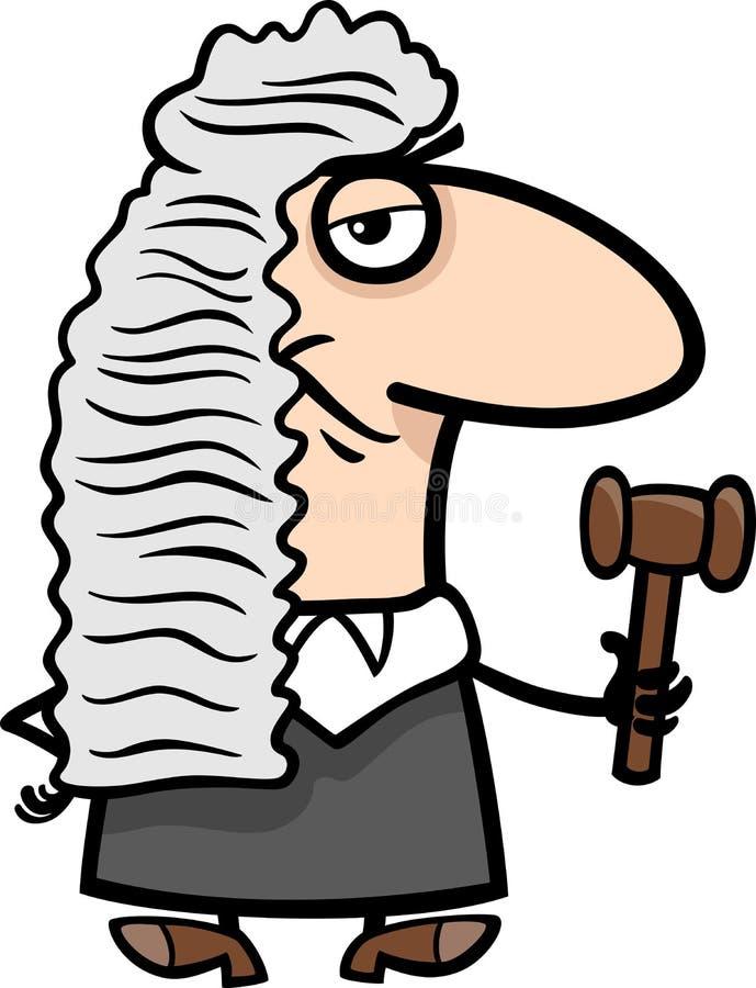 Иллюстрация шаржа судьи иллюстрация вектора