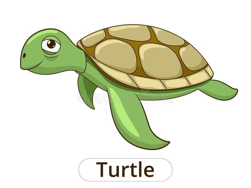 Иллюстрация шаржа черепахи подводная животная иллюстрация штока