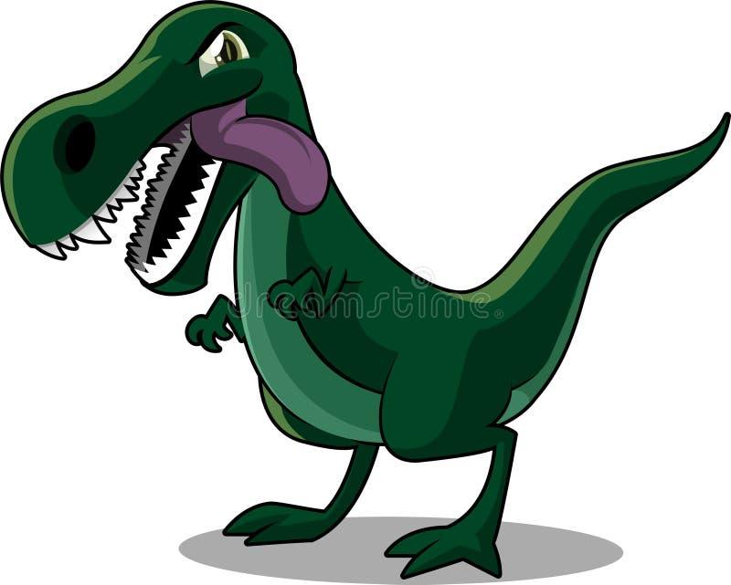 Иллюстрация шаржа rex Tyrannosurus иллюстрация штока