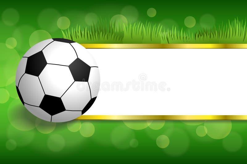 Иллюстрация шарика спорта футбола футбола предпосылки абстрактная зеленая иллюстрация вектора
