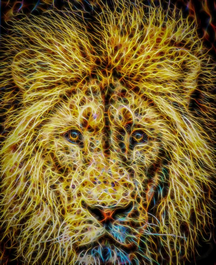 Иллюстрация льва стоковое изображение rf