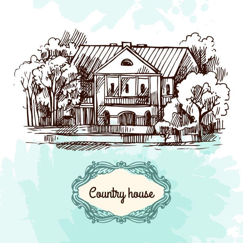 Иллюстрация эскиза дома иллюстрация штока