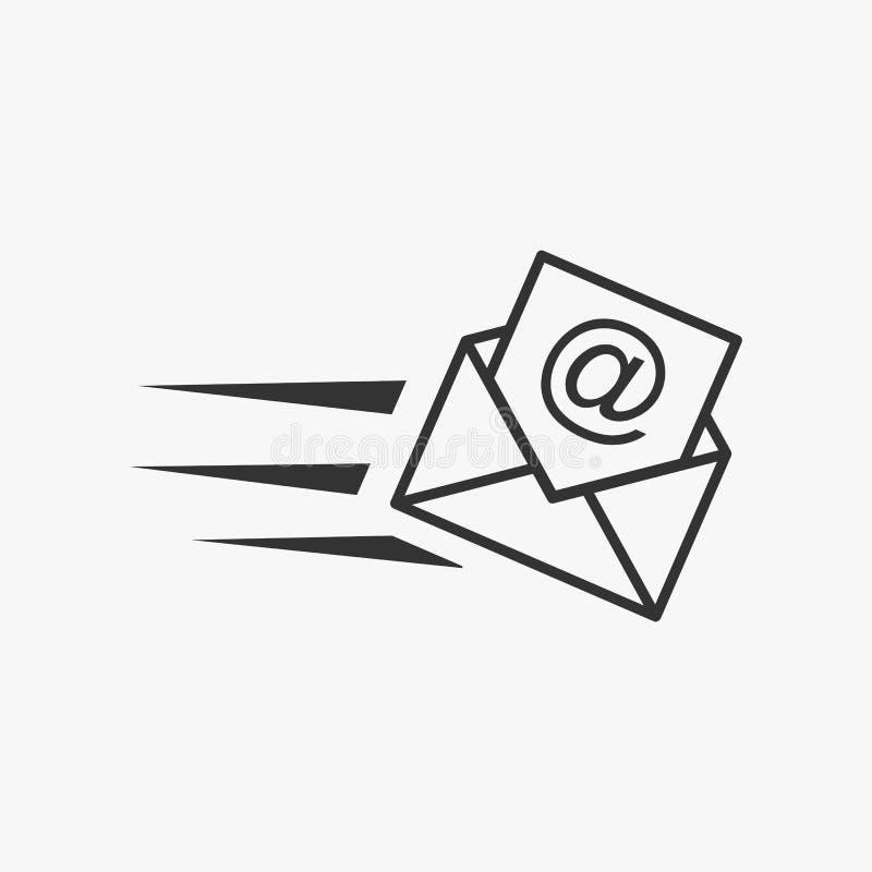 Иллюстрация электронной почты Значок маркетинга электронной почты Значок сообщения бесплатная иллюстрация