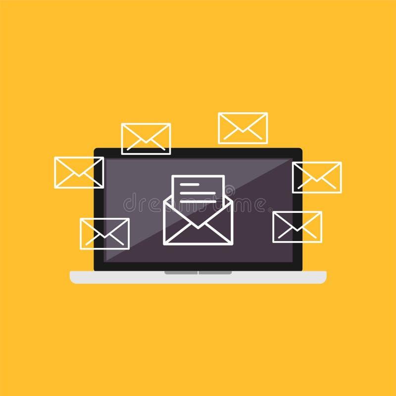 Иллюстрация электронной почты Маркетинг электронной почты Иллюстрация электронной почты иллюстрация вектора
