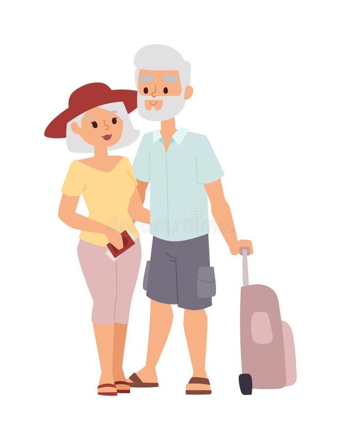 Иллюстрация людей пар лета старая иллюстрация штока