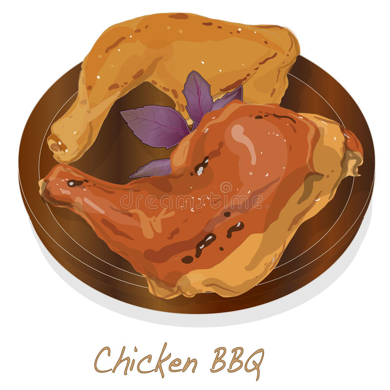 Иллюстрация BBQ цыпленка вектор бесплатная иллюстрация