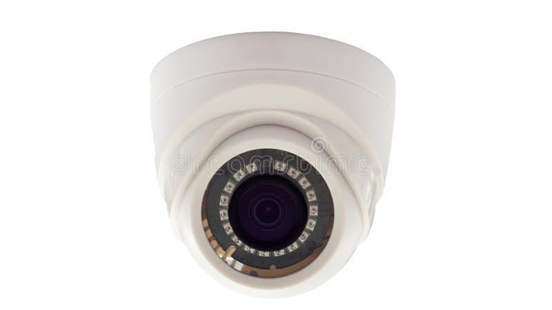 иллюстрация cctv камеры предпосылки высокая изолировала белизну качества стоковые изображения